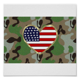 Military Family Love Poster