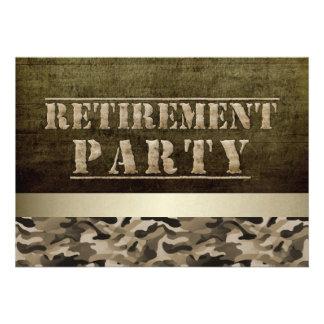 Military Fatigues Retirement Party Custom Invites