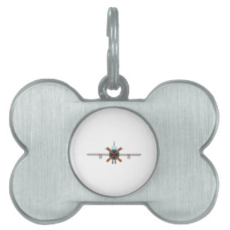Military Fighter Airplane Pet Name Tag