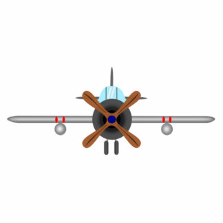Military Fighter Airplane Statuette