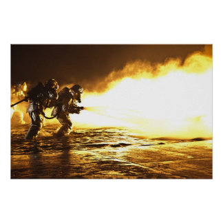 Military Firefighters Poster
