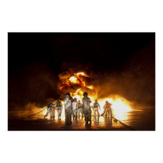 Military Firefighters Print