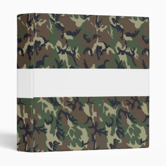 Military Forest Camouflage Background 3 Ring Binder