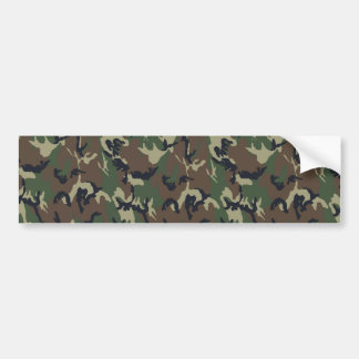 Military Forest Camouflage Background Bumper Sticker