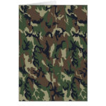Military Forest Camouflage Background Greeting Cards