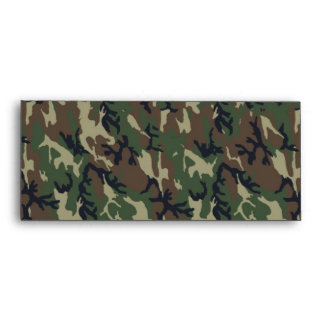 Military Forest Camouflage Background Envelope