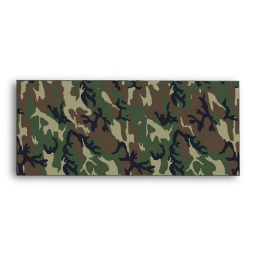 Military Forest Camouflage Background Envelopes