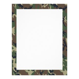 Military Forest Camouflage Background Flyer
