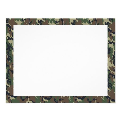 Military Forest Camouflage Background Personalized Invites