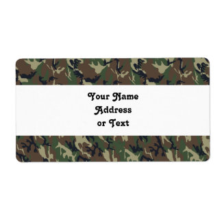Military Forest Camouflage Background Personalized Shipping Labels