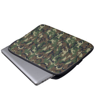 Military Forest Camouflage Background Computer Sleeves