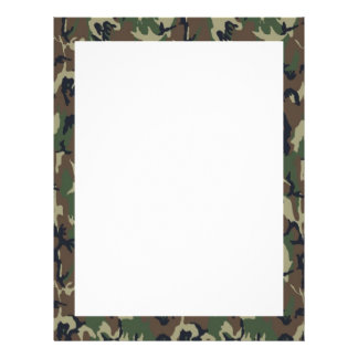 Military Forest Camouflage Background Letterhead