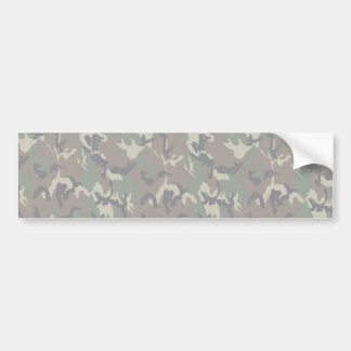Military Forest Camouflage Background Lightened Bumper Sticker