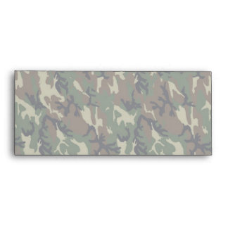 Military Forest Camouflage Background Lightened Envelope