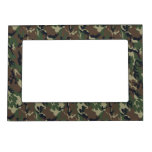 Military Forest Camouflage Background Magnetic Photo Frames