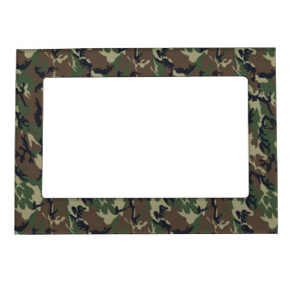 Military Forest Camouflage Background Magnetic Picture Frame