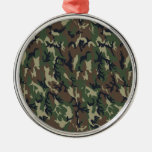 Military Forest Camouflage Background Christmas Tree Ornament