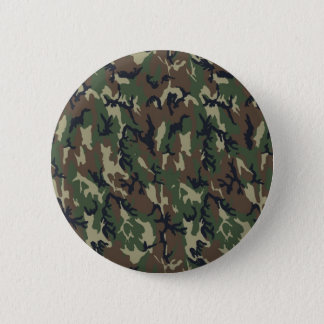 Military Forest Camouflage Background Pinback Button