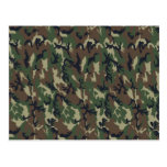 Military Forest Camouflage Background Post Card