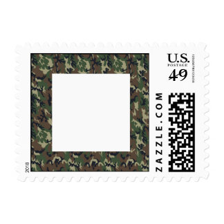 Military Forest Camouflage Background Postage