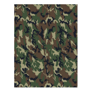 Military Forest Camouflage Background Postcard