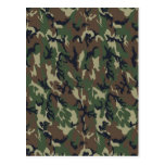 Military Forest Camouflage Background Postcards