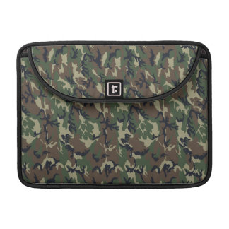 Military Forest Camouflage Background Sleeves For MacBook Pro