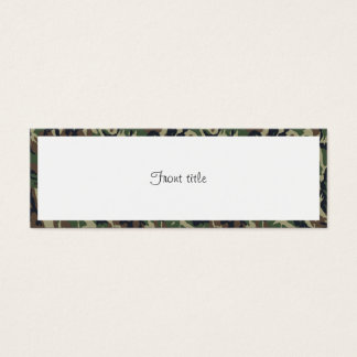 Military Forest Camouflage Background With White Mini Business Card