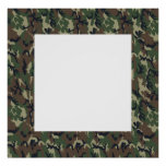 Military Forest Camouflage Background With White Poster