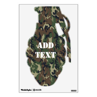 Military Forest Camouflage - Military Shape Wall Sticker