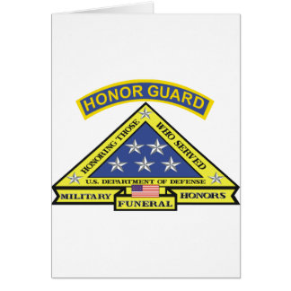 MILITARY FUNERAL HONOR GUARD CARD