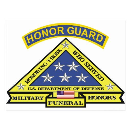 MILITARY FUNERAL HONOR GUARD POST CARDS