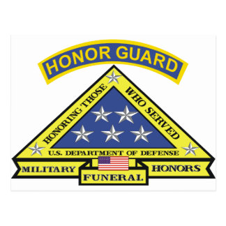 MILITARY FUNERAL HONOR GUARD POSTCARD