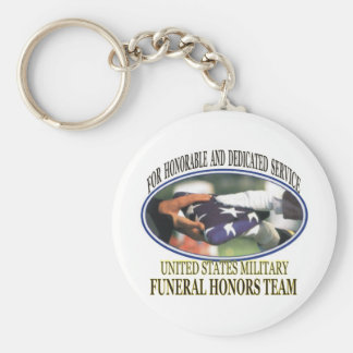 Military Funeral Honors Keychain