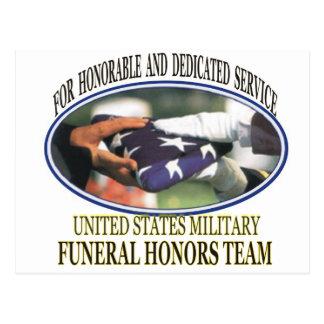Military Funeral Honors Postcard