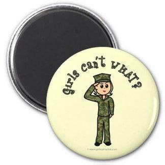 Military Girl - Blonde Magnet