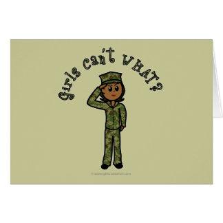 Military Girl - Dark Card