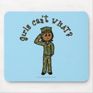 Military Girl - Dark Mouse Pad