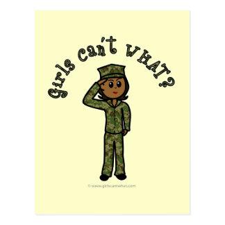 Military Girl - Dark Postcard
