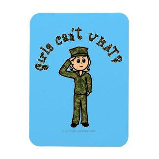 Military Girl - Light Magnet