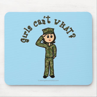 Military Girl - Light Mouse Pad
