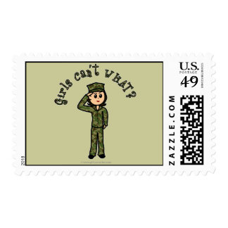 Military Girl - Light Stamp