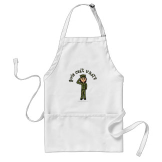 Military Girl - Red Hair Adult Apron