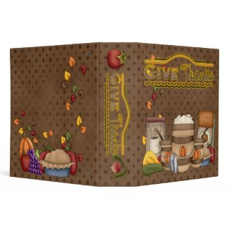 Military Give Thanks (Recipe Book) binder