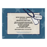 Military Going Away Party Blue Stars Custom Announcements