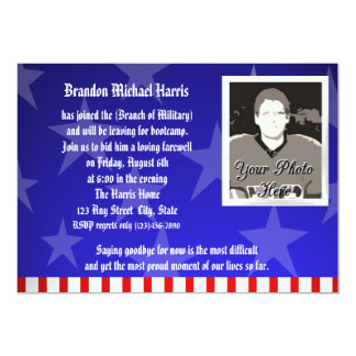 Military Going Away Party Card