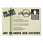Military Going Away Party Custom Announcements