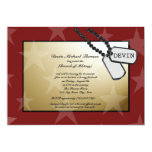 Military Going Away Party Gold and Red Invites
