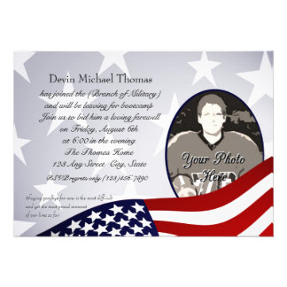 Military Going Away Party Custom Invite