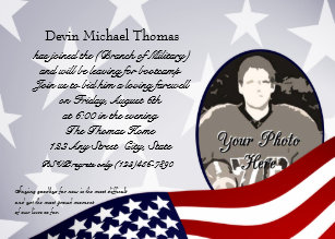 military going away party invitations zazzle